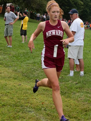 Megan Roche of Newark placed 11th  at the Newark Catholic's annual cross country invitational Saturday with a time of 21:23.2.