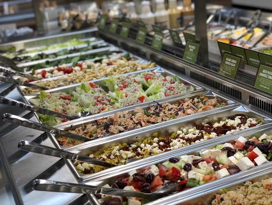 Salad bar at Sprouts Farmers Market