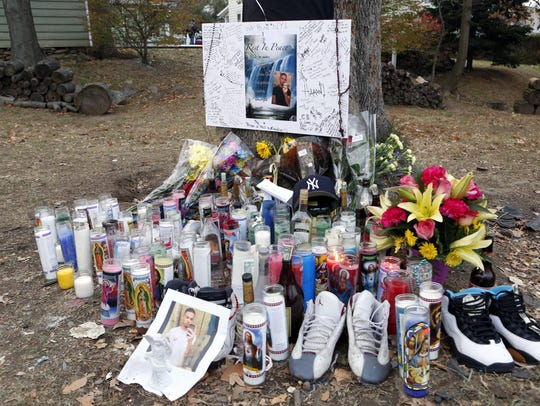 A memorial for 18-year-old Joseph Touri at the crash