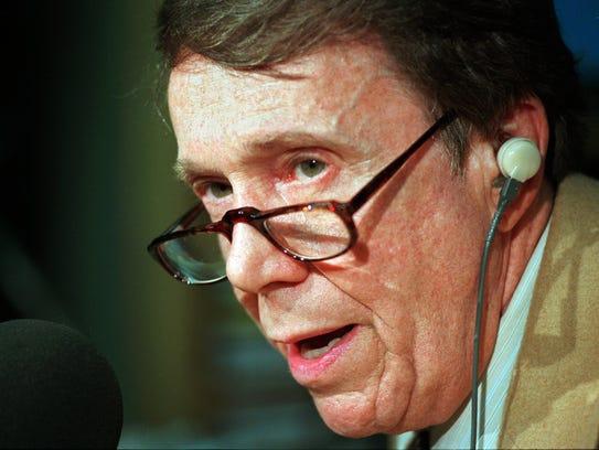 Controversial radio talk show host Bob Grant in 1996