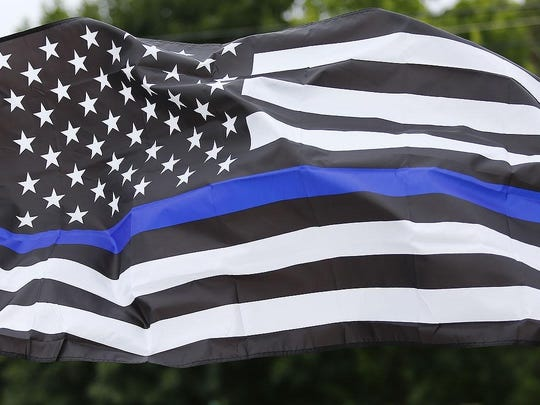 A Thin Blue Line flag.