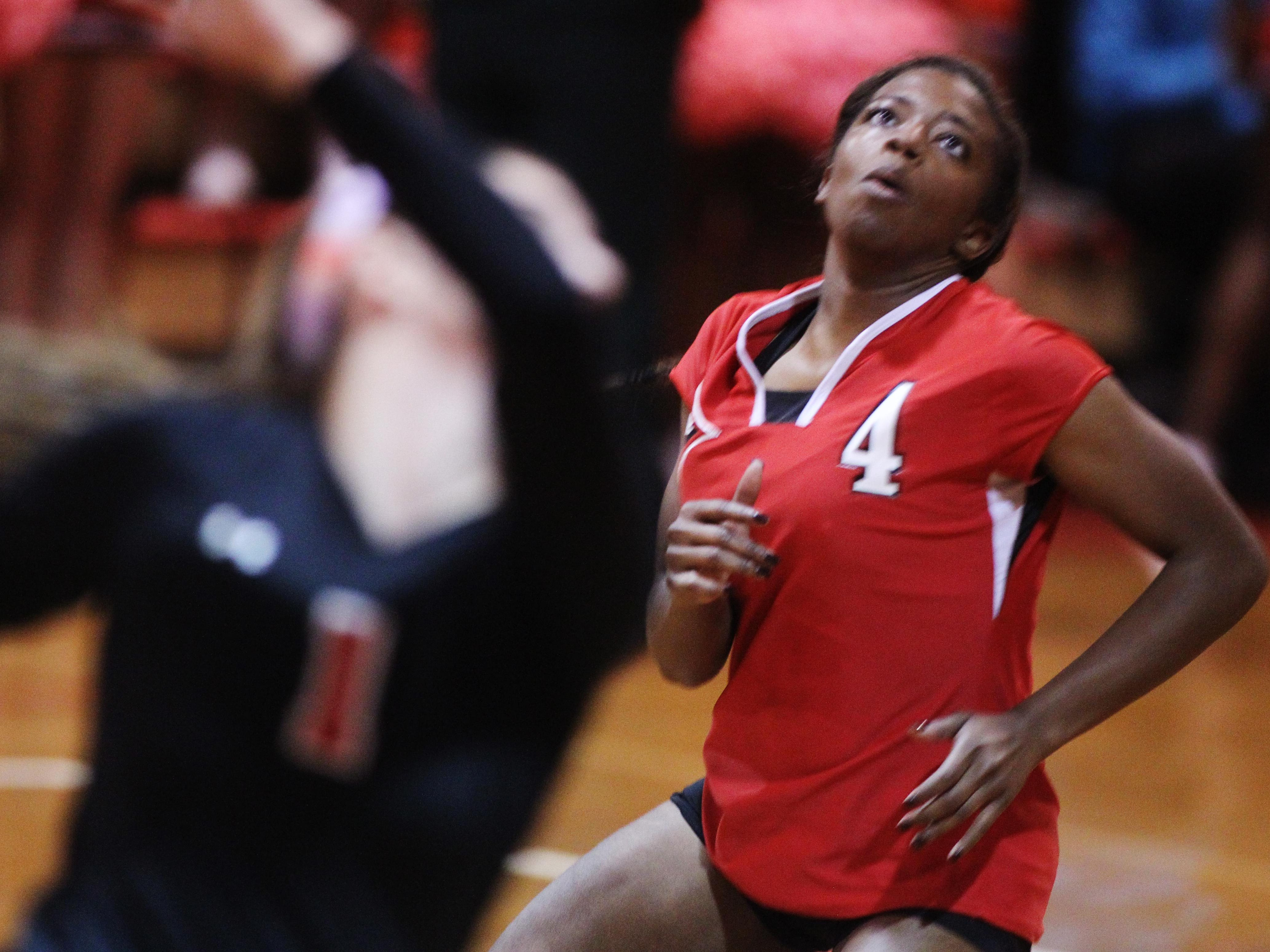 Leon senior Daijah Washington had 12 kills and three aces during Saturday's Class 7A state semifinal game against Tampa Plant, but the Lions fell 3-2 by just a few points in the tiebreaking fifth set.