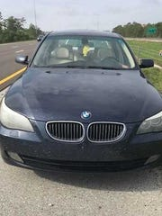 """Troopers received """"multiple reports"""" of a blue BMW driving recklessly north on I-75 near mile marker 111 about 7:30 a.m., the release states."""