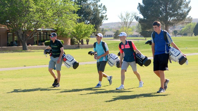 Members of the CHS golf team the fairway during a practice at Riverside Country Club in 2016. CHS will host a string golf tournament this Saturday at the Riverside Country Club starting at 9 a.m.