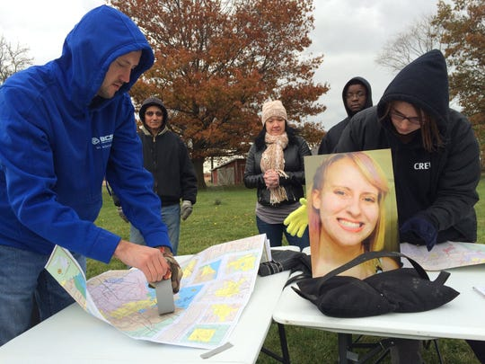 Friends and family prepare to search for Chelsea Bruck on Wednesday, Oct. 29, 2014.