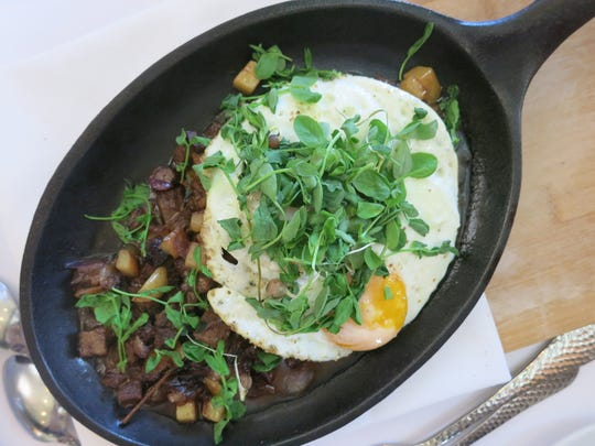 The braised beef short rib hash skillet on the brunch