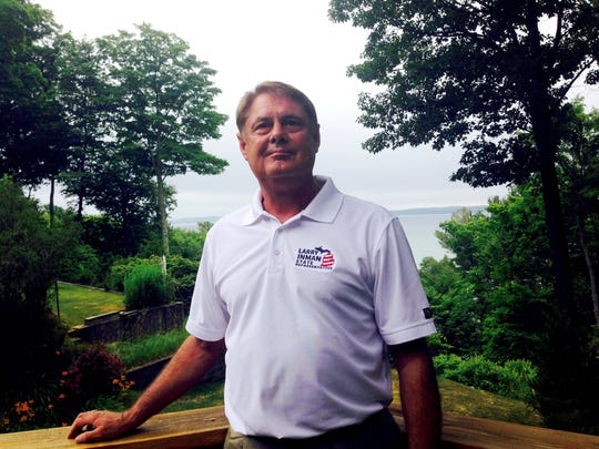 State Rep. Larry Inman, R-Williamsburg, at his northern Michigan home along the shores of Grand Traverse Bay.