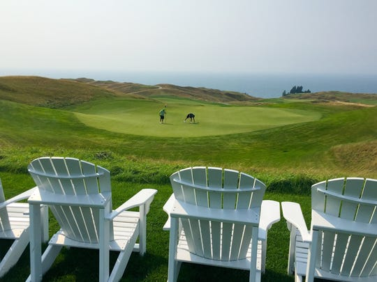 With its golf course hugging the shore of Lake Michigan, Arcadia Bluffs in Arcadia, Mich. looks beautiful all year round.