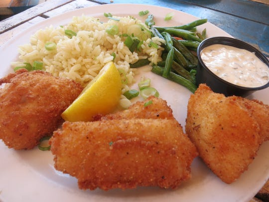 The fried walleye lunch at Marine City Fish Co. includes