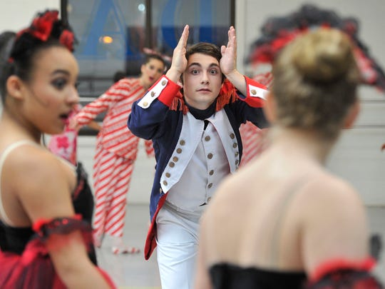 Timothy Pizziketti, portraying the Prince in the Greater York Dance Studio production of The Nutcracker, participates in dress rehearsal at the studio on Saturday, Nov. 14 , 2015.
