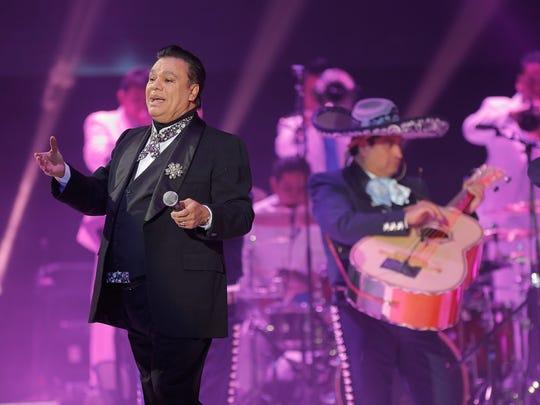 """Juan Gabriel plays a concert in El Paso Sunday on his """"Noa Noa"""" Tour."""