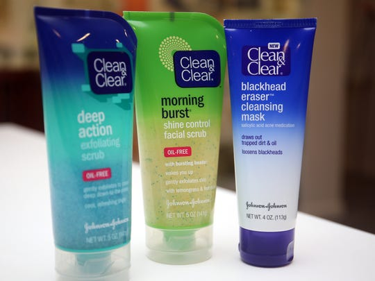 Johnson & Johnson is in the process of phasing microbeads out of its Clean & Clear line as well as all other products they manufacture, Tuesday, Jan. 5, 2016.