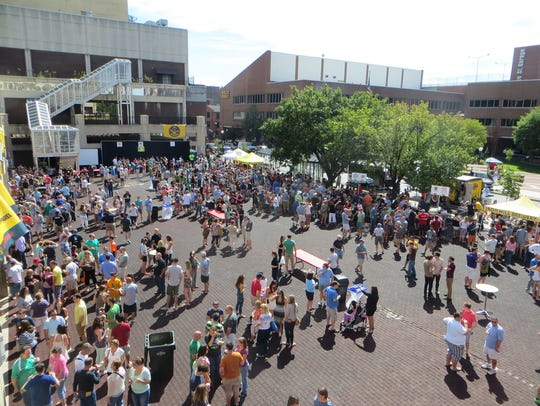 The Lancaster Craft Beerfest is held in Lancaster Square