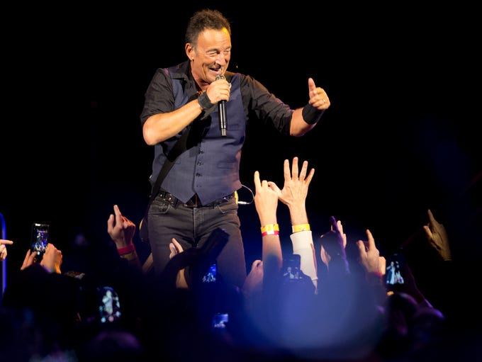 Bruce Springsteen and the E Street Band perform, Sunday,