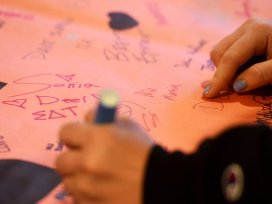 Last spring, Kappa Delta Rho, a fraternity at York College, set up a table for students to sign a banner for the It's On Us campaign to end campus sexual assault.