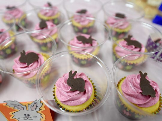"""A variety of rabbit themed food was for sale at """"Bunfest"""" at the York County SPCA on Saturday, March 19, 2016. The event, which allowed visitors to learn about rabbit care and even adopt them, additionally offered up photographs with bunnies and a variety of vendors."""
