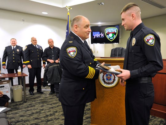 In this 2016 photo, York City Police Chief Wes Kahley,