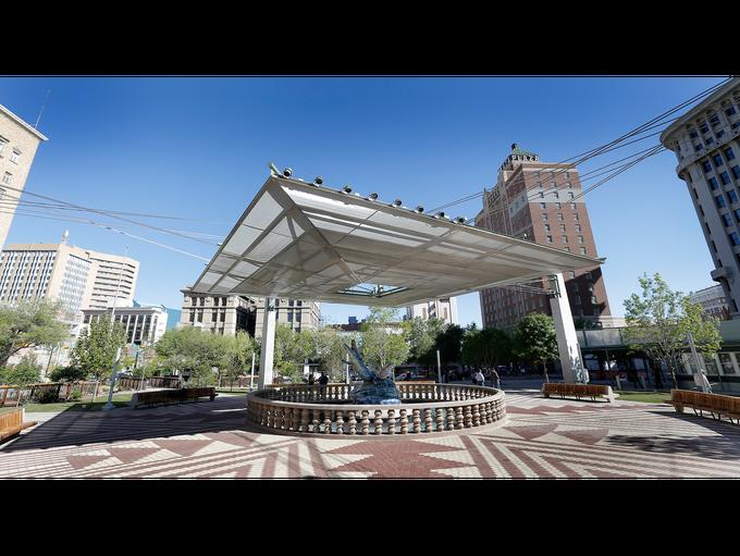 San Jacinto Plaza's renovation is complete.
