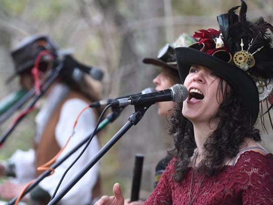 The band Tuatha Dea performed at The May Day Fairie Festival at Spoutwood Farm in Glen Rock on Friday, April 29, 2016.