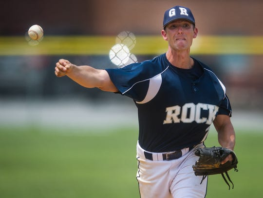 Glen Rock's Brad McCullough (7) pitches during the