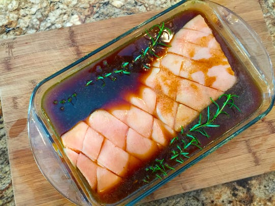 An overnight bath in a root beer marinade is the key