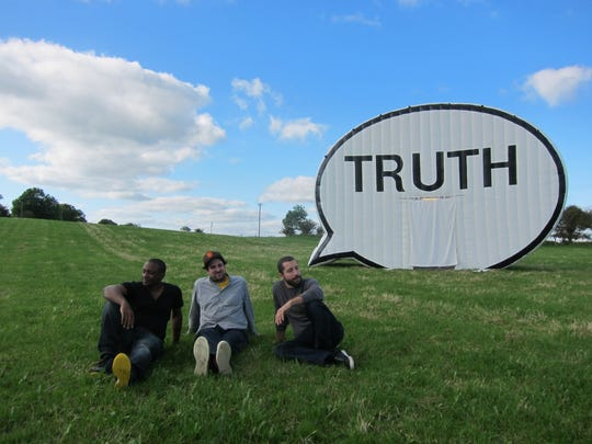 Cause Collective is the group behind the Truth Booth. From left to right: Hank Willis Thomas, Jim Ricks and Ryan Alexeiv. (Not pictured: Will Sylvester).