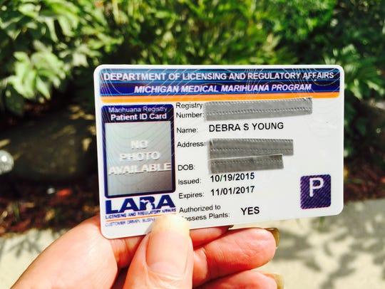 Deborah Young of Ferndale is a registered medical-marijuana