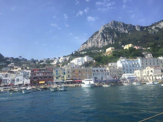 Capri, Italy, where the light seems to glow.