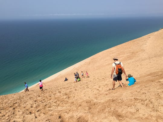 Michigan's iconic Sleeping Bear Dunes in Empire.
