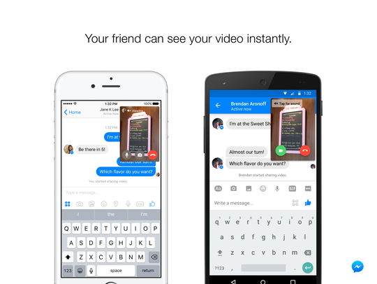 Instant video lets you send real-time video to friends