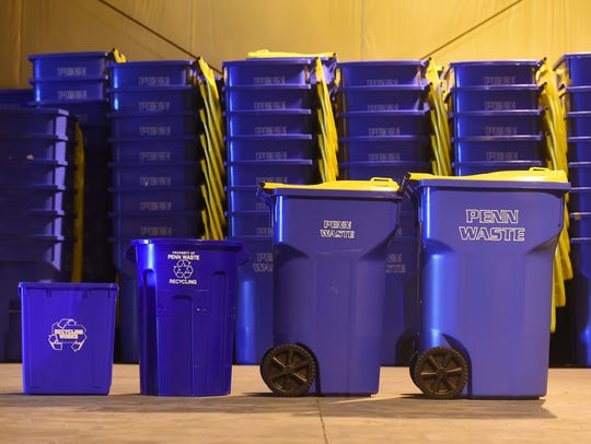 Items like paper, plastic bags, clothing, medical waste should not be placed in curbside bins.