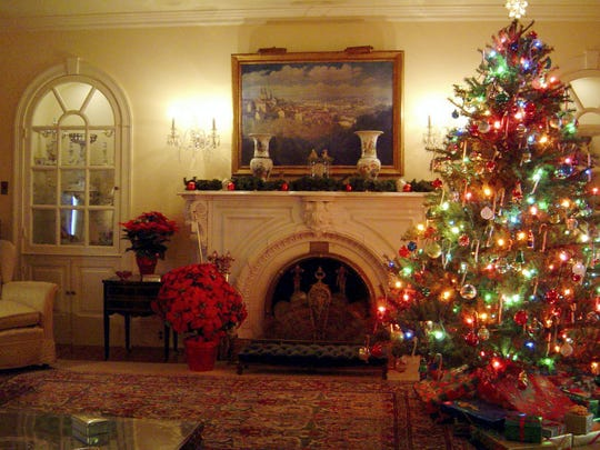 The Eisenhower home in Gettysburg will be decorated for Christmas through Dec. 31. The site is open daily, except for Christmas and New Year's Day.