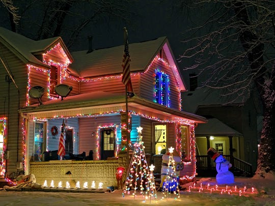 All over town, homes have been decorated for the holidays. A cruise down Locust Street was full of color, especially at 604 Locust.