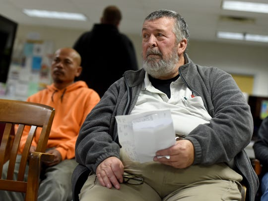 """Dennis Sprague, 70, of Newberry Township said he has been unable to reach a Department of Labor and Industry call center when he tried calling from home. """"You don't want me to tell you,"""" he said when asked how that made him feel."""