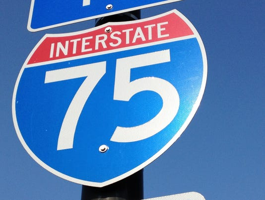 Southbound I-75 to close Saturday