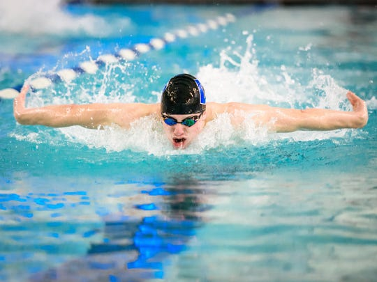 Dallastown's Jacob Stoner enters this week's YAIAA championships as the top seed in the 100 butterfly and the 100 freestyle.