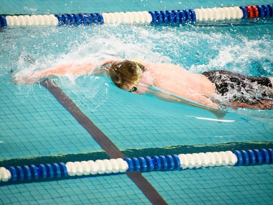 Central York's Lucas Tate carries the top seed in the 100 breaststroke into this week's YAIAA championships.
