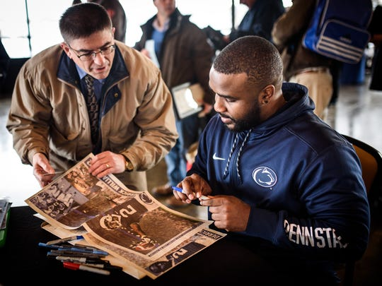 Derrick Williams talked about his admiration and long relationship with James Franklin as he signed autographs during York Area Sports Night. Williams said he nearly followed Franklin to play for Maryland more than a dozen years ago.