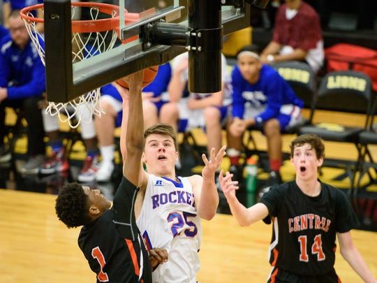 Spring Grove's Jonathan Sager (25) attempts a shot