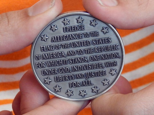 A retired U.S. Air Force captain sent this coin to