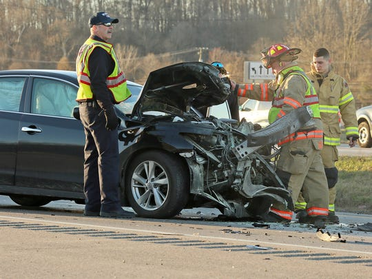 A medical helicopter transported one patient to Columbus after a crash involving a car and a semi near the intersection of Ohio 16 and Marne Road.