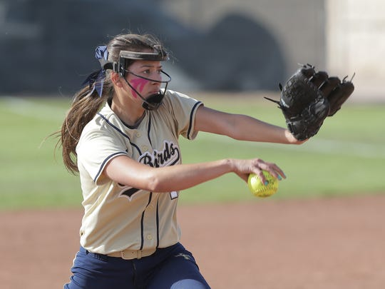 Coronado pitcher Alexis Hamilton starts on the mound for the T-Birds as they play Montwood Tuesday.