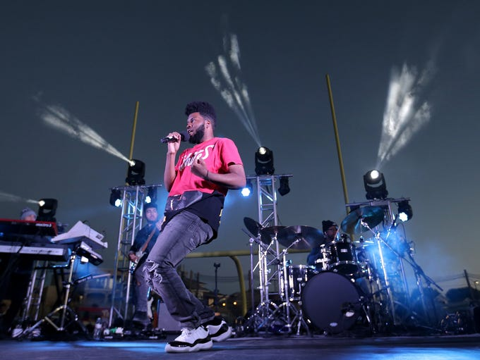 Khalid wooed El Pasoans with his smooth delivery during