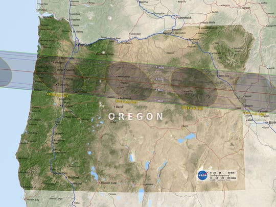 """""""Path of Totality"""" the total solar eclipse will take"""