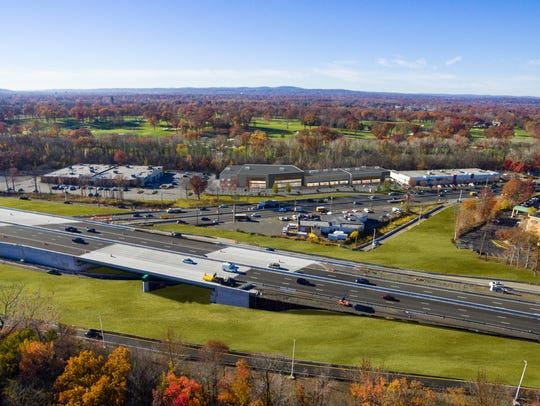 An aerial rendering of the proposed Paramus Crossroads