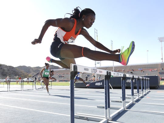 UTEP's Tobi Amusan won the women's 100-meter hurdles to qualify for Sunday's final with a time of 13.07. The C-USA Outdoor Championships end Sunday.