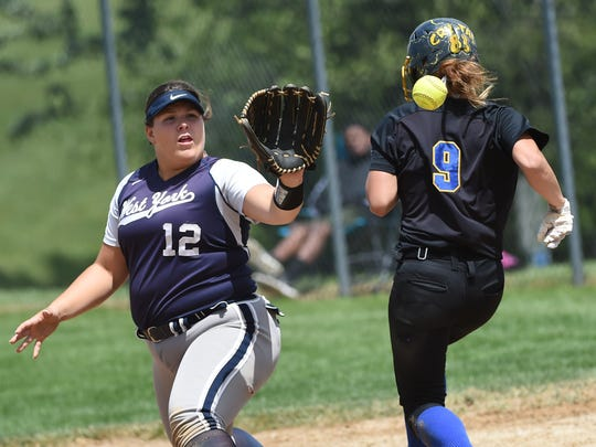 Kennard-Dale's Crystal Mullins and West York's Paige Weekly were both selected to the Class 4A all-state team.