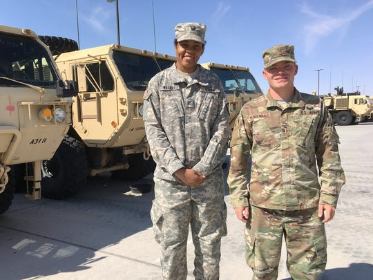Cadet Vanessa Wesley, left, shadowed 2nd Lt. Nick Mendenhall during a training program at Fort Bliss.