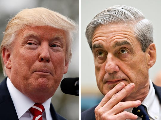 President Trump and former FBI director Robert Mueller.