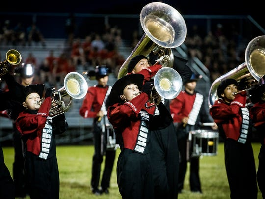 Richmond competes in the Muncie Central Spirit of Sound band contest at Central Saturday night.
